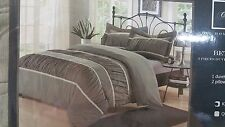 *Brand New* Chic Home Bedding Betsy Silver Gray 3pc Ruffled Duvet Cover KING Set