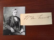 William M. Evarts Signed Card, Lincoln Civil War Diplomat, Attorney, Senator