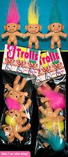 3 trolls troll gnomo Santa Claus secreto personajes en el bolsa 80er ** para coleccionistas