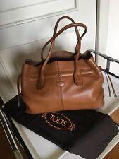 Tod's Borsa Con Manici. Shopping bag, In Pelle Marrone Originale Con Dust Bag.