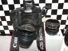 Canon EOS 7D 18.0 MP Digital SLR Camera - + THREE LENSES=PROFESSIONAL-USE