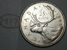 Canada 1989 25 cents Canadian Caribou Quarter Coin Lot #M17
