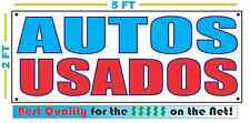 AUTOS USADOS Full Color Banner Sign NEW 2x5