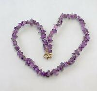 8425138  Naturstein-Kette Collier Amethyst violett
