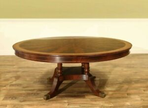 Large Traditional Round Mahogany Pedestal Table