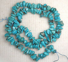 "Turquoise Nugget Loose Gemstone Beads Natural Blue Colors 5 to 7mm 16"" Std # 934"