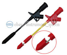 Fully Insulated Quick Piercing Test Clips Multimeter Test Probe Spring Load