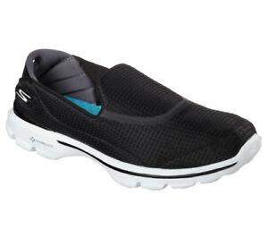NEU SKECHERS Damen Fitness Sneakers Slipper Walking GO WALK 3 - UNFOLD Schwarz