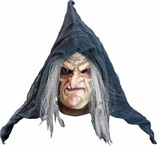 Halloween Costume EVIL HERMELINDA STRINGY HAIR WITCH LATEX DELUXE MASK Haunted
