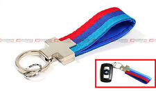 M SPORT M COLORWAY BLUE RED 2 LAYERS LUXURY KEY RING CHAIN LANYARD FOB FOR BMW