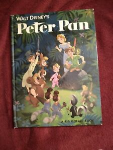 Peter Pan Walt Disney's A Big Golden Book~ Vintage 1952. *Free Shipping*