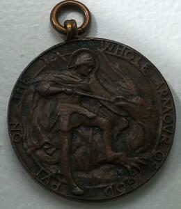 Antique Bronze Catechism Medal Put on the whole Armour of God.