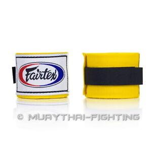 New Fairtex Elastic Cotton Hand wraps Handwraps HW-2 Black Blue Bleach Red Pink