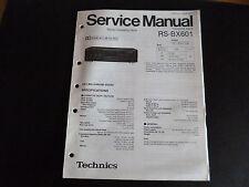 Original Service Manual Technics RS-BX601