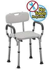Tool-Free Assembly Spa Bathtub Shower Lift Chair, Portable Bath Shower Chair
