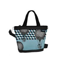 TWIIT Bag large, ART & POP, BLU CAMOSCIATO, Cod. 57620