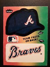 1983 Fleer Team Sticker Insert #ATL.2 ATLANTA BRAVES TEAM (Logo) Baseball Card
