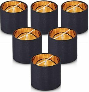 """Wellmet Small Lamp Shade for Chandelier Clip on Drum ( Set of 6 ) 5.5"""" x 5.5""""NEW"""