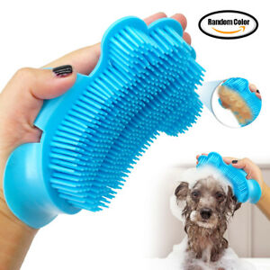 Pet Bathing Brush Soft Plastic Beauty Washing Massage Gloves Cleaning
