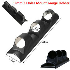 "Black 2"" 52mm 3 Triple Holes Car Dash Gauge Mount Holder Pod Bendable Universal"