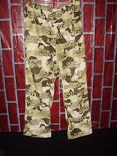 Men's Duck Dynasty Lounge Pajama Sleep Pants Beige Tan Camouflage M (34-36)
