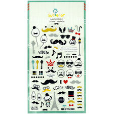 Mustache Style Transparent Diary Deco Stickers Labels Scrapbook Journal