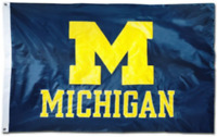 Michigan Wolverines 3x5 Flag Football New Fast USA Shipping 3 x 5 Banner