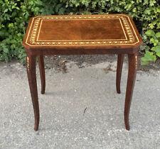 Vintage Italian Inlaid Wood Occasional Table