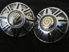 Gold Sterling Silver Earrings ~ Signed Important Vintage Navaj Arland Benn 14K