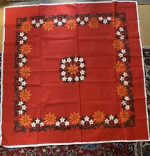 Vintage Scandinavian style Christmas tablecloth