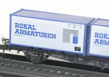 H0 Containerwagen DB Rokal Armaturen Röwa 2301 neuw. OVP
