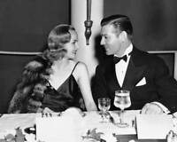 Carole Lombard With Clark Gable Looking At Each Other 8x10 Photo Print