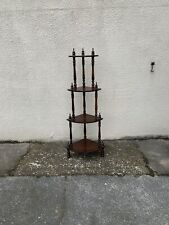 wooden 4 tier corner free standing stand turned columns solid wood 4ft