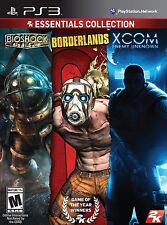 2K Essentials Collection - Bioshock, Borderlands, Xcom Enemy Unknown - (PS3)