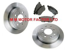 ROVER MG ZR ZS 1.8 120 160 2.0 TD REAR SOLID 260mm BRAKE DISCS AND PADS SET