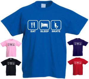 Eat Sleep Skate Funny Kids T-shirt