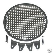 15 INCH SUBWOOFER SPEAKER COVERS WAFFLE MESH GRILL GRILLE PROTECT GUARD W/ Clips