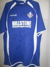 Oldham Athletic 2007-2008 Squad Firmado Home Football Shirt Coa / 15352