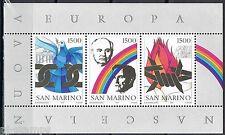 San Marino 1991 blok 14 geboorte van een nieuw Europa Gorbatsjov Bush Cat wrd €7