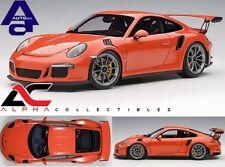 PRESALE AUTOART 78168 1:18 PORSCHE 911(991) GT3 RS (LAVA ORANGE/DARK GREY WHEELS