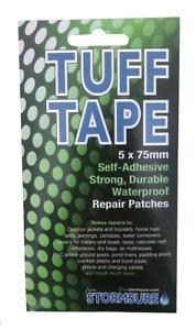 TUFF Tape Self Adhesive Waterproof Repair Patches 5-Pack 75mm