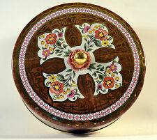 Vintage Designed by Daher Decorated Ware Floral Tin Box, Can, Bowl England