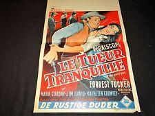 LE TUEUR TRANQUILLE  ! affiche cinema western 1956