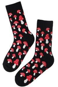 Men's Mushroom Socks (Pair) Fun and Novelty Socks