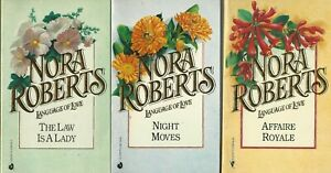 Lot of 3 Vintage Nora Roberts Romace Paperbacks Language of Love Series