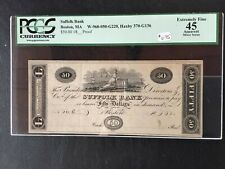 18__ SUFFOLK BANK BOSTON MA $50 Proof PCGS 45