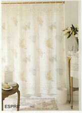 Creative Bath Products, Esprit Butterfly Fabric Shower Curtain in Pastel Colors