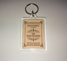 By Order of The PEAKY BLINDERS Keyring/Bag Tag TV Series Season 1 2 3 4 5 Shelby