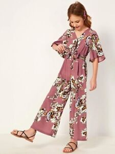 Shein Girl Flare Sleeve Jumpsuit Size 11-12 Years BNWT K597