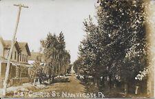 East Church Street Nanticoke PA Handsome Vintage Postcard RPPC Real Photo 1913
